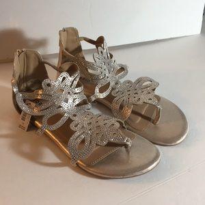 Torrid Gold Gladiator WIDE width sandal